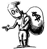 robber-in-a-mask-and-with-money-bag-vector-illustration_k18850995